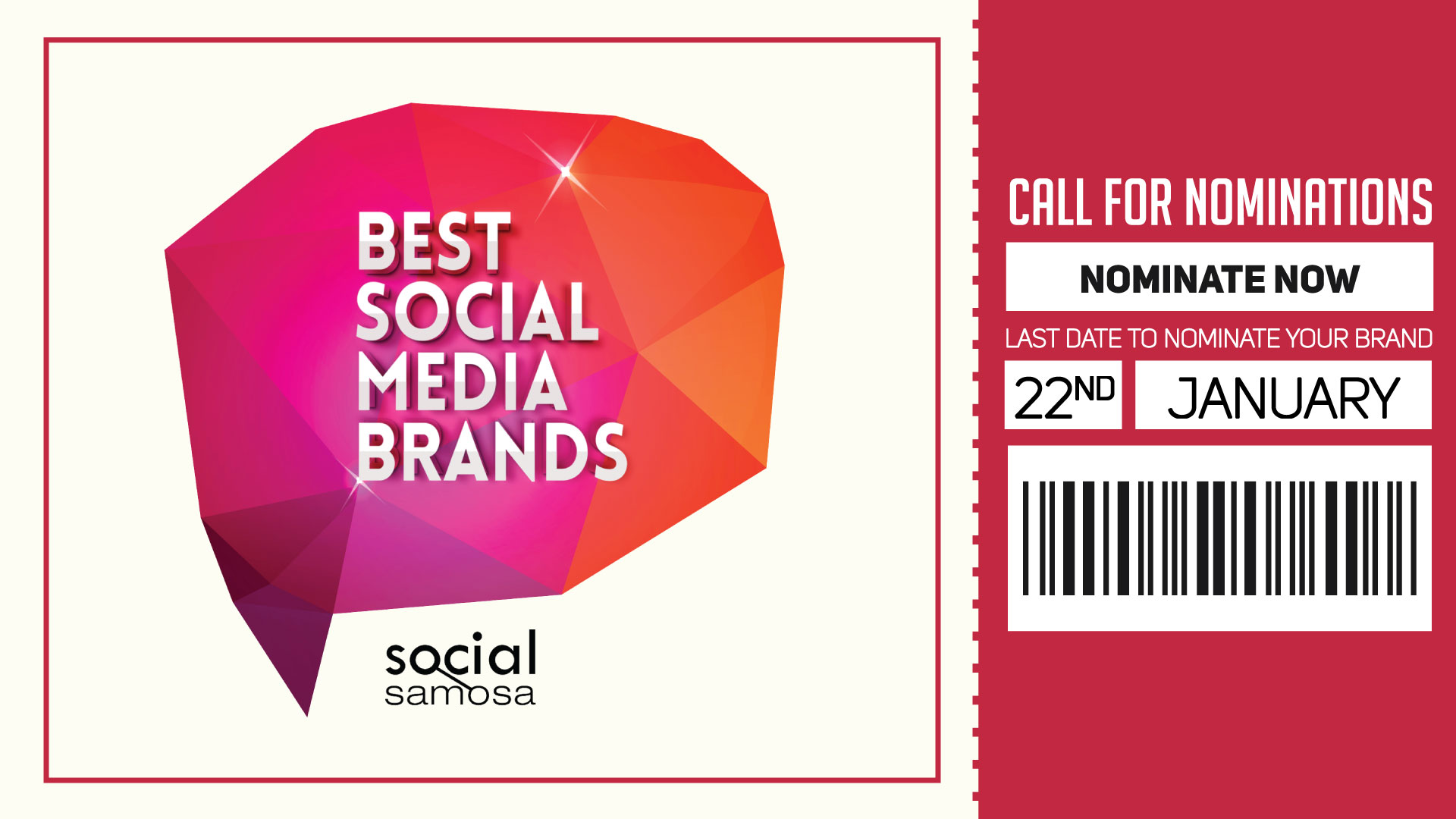 Best Social Media Brands - Nominations open now - Explara