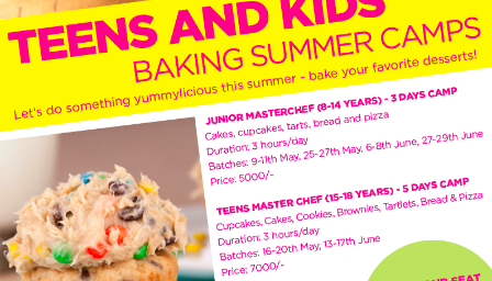 Teens Masterchef Baking Summer Camp in Mumbai