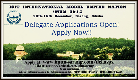 IGIT International Model United Nation, iMUN 2k13, IGIT Sarang
