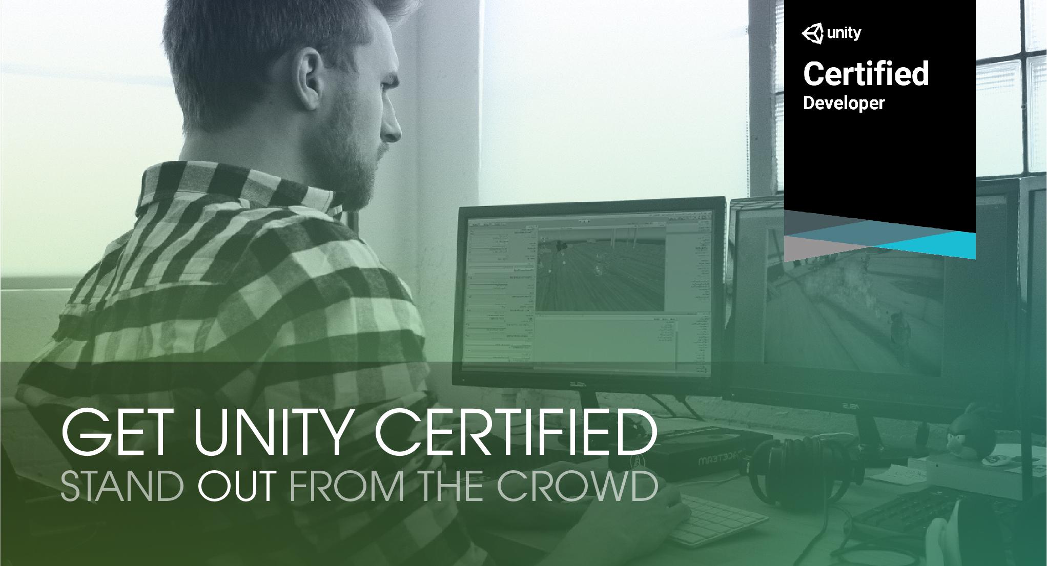Book Unity Developer Certificate Examination Drive Tickets