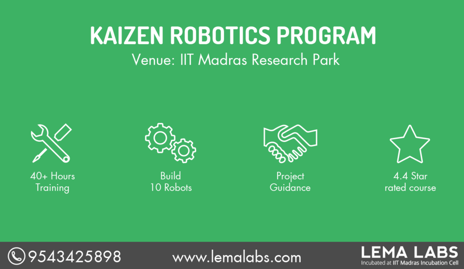 Kaizen Robotics Program - IIT Madras Research Park  - Explara