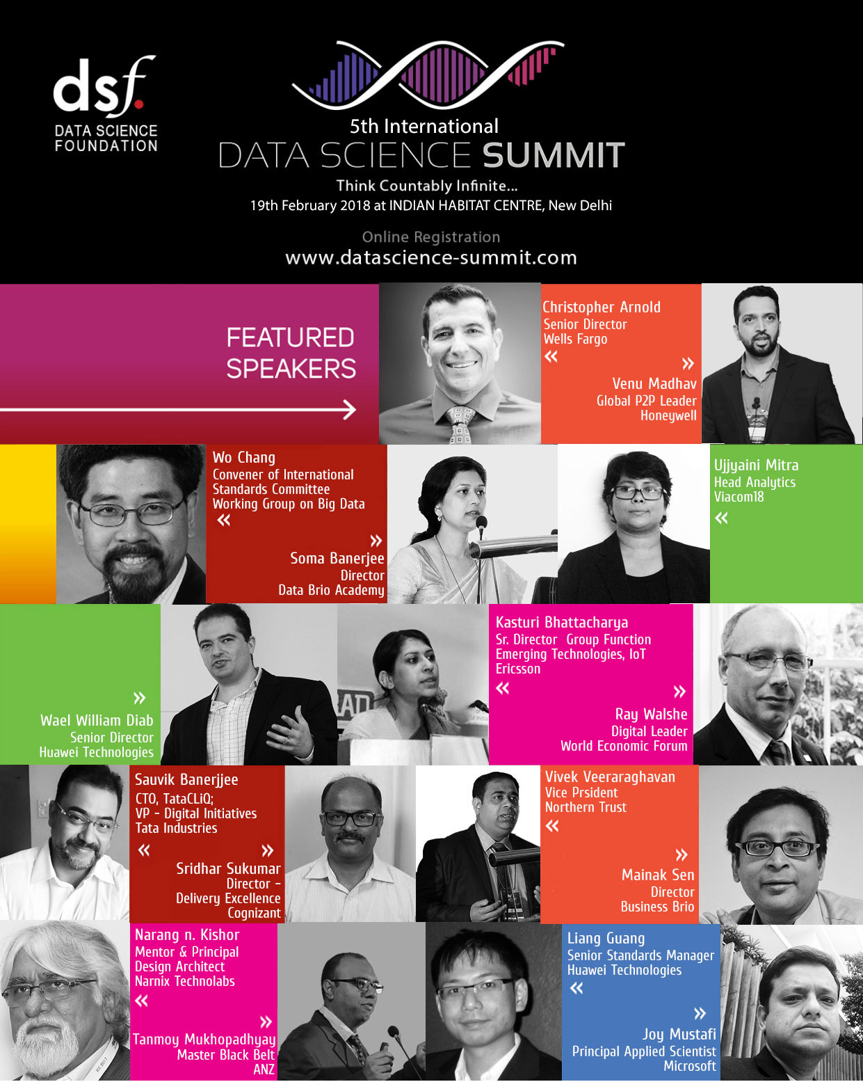 Speakers for Data Science Summit 2018