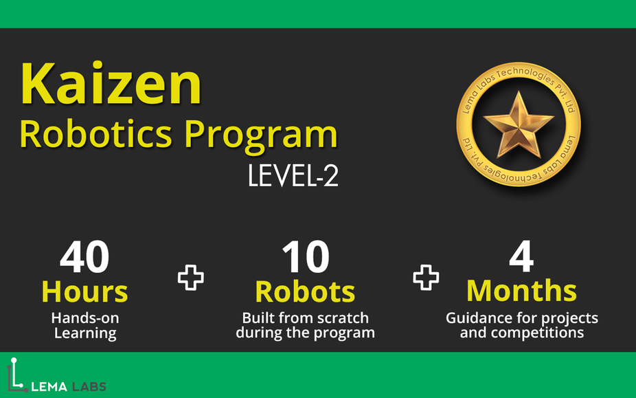 Kaizen Robotics Program - Level 2 (IIT Madras Research Park-Chennai) - Explara