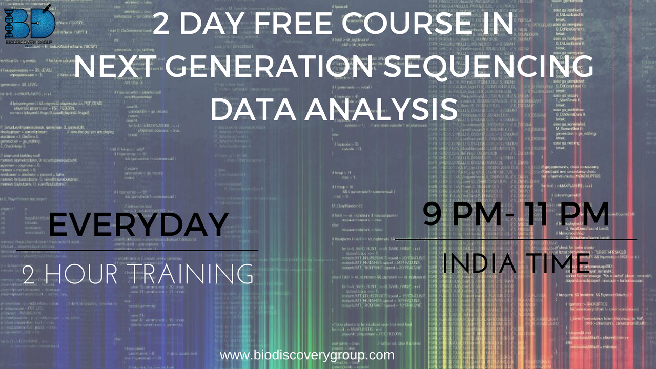 2 day free Course in Next Generation Sequencing - Explara