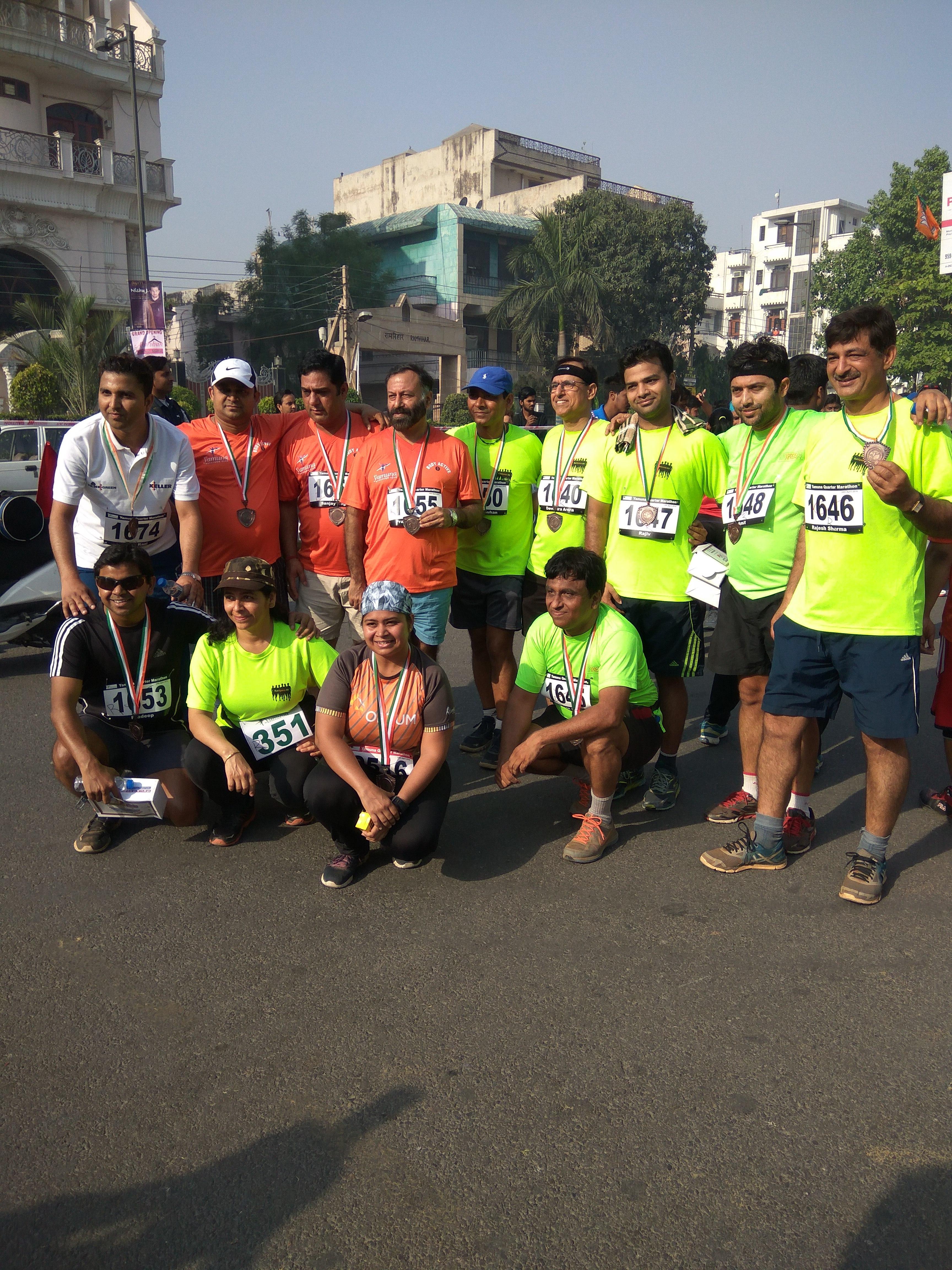 Yamuna Quarter Marathon 2017