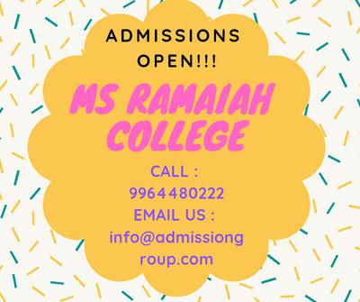 9964480222-ms ramaiah college admission bangalore