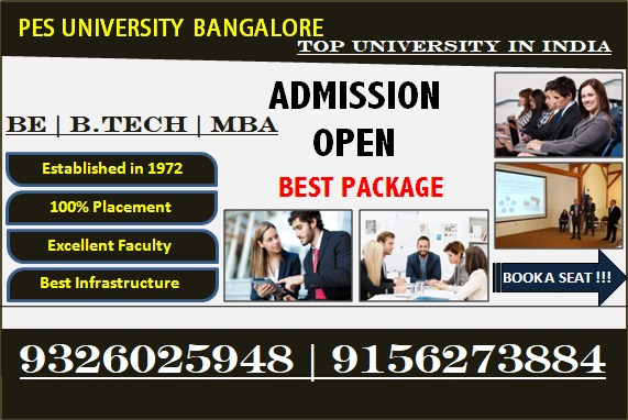 Direct Management Quota Admission for B.E in PES University Bangalore