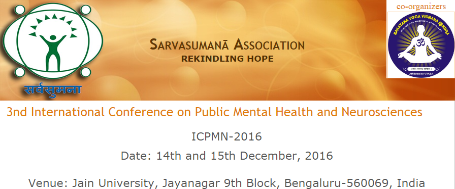 2016 3rd International Conference on Public Mental Health and Neurosciences  (ICPMN-2016) - Explara