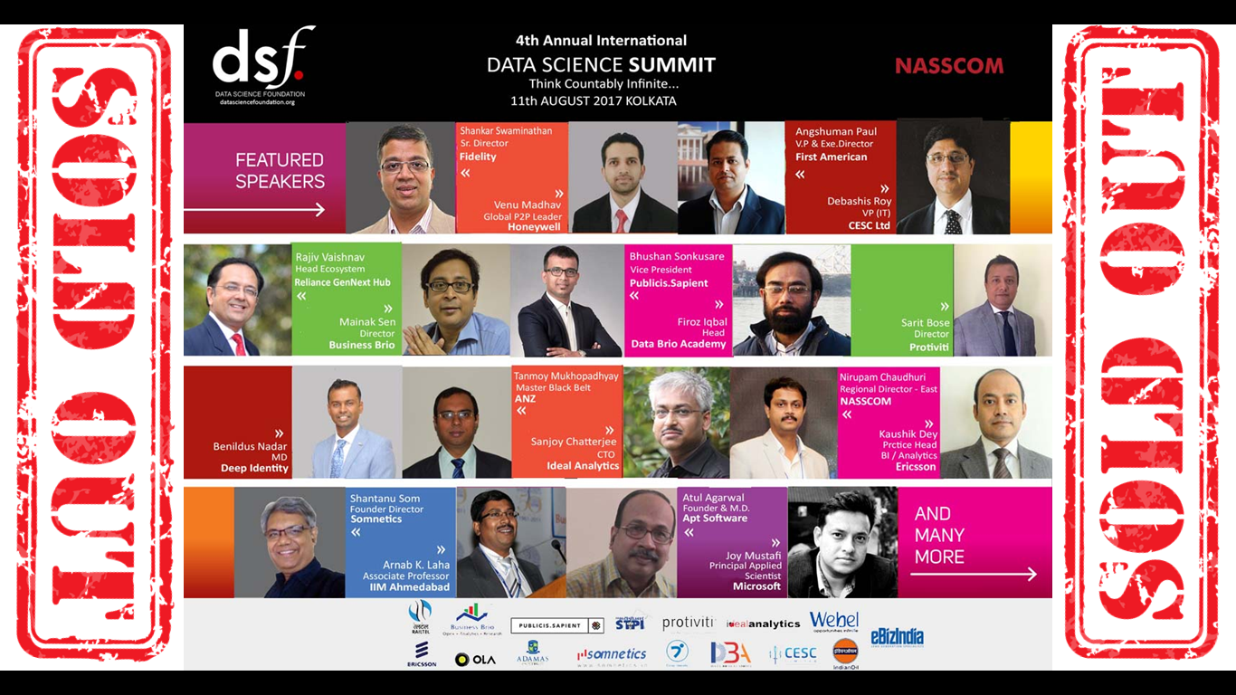 4th Annual International Data Science Summit | 11th August 2017 at Kolkata. - Explara