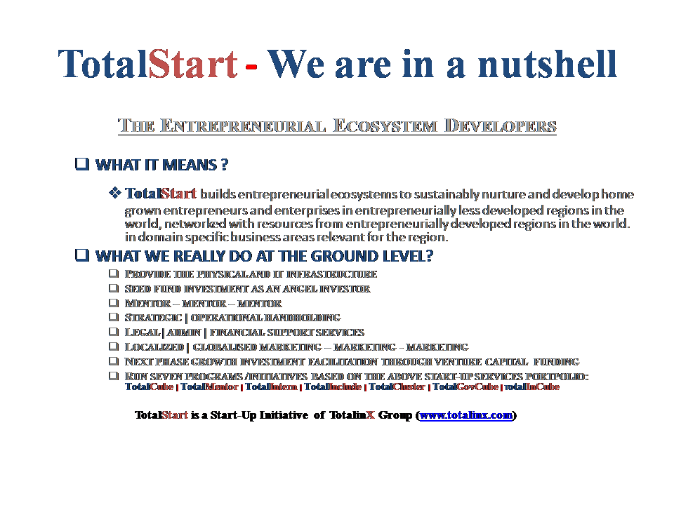 TotalStart Bengal StartUp BootCamp 2015 for Scalable Small Enterprises